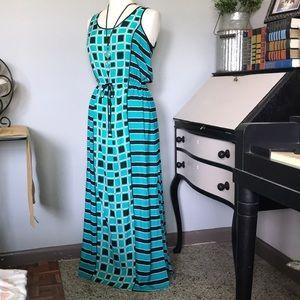 Michael Kors green and black pleasant dress